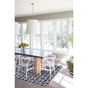 Ruggable Hand Woven Blue and White Indoor/Outdoor Area Rug