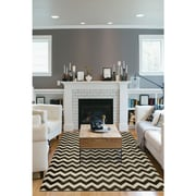 Ruggable Hand Woven Black and White Indoor/Outdoor Area Rug