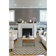 Ruggable Hand Woven Rich Gray and White Indoor/Outdoor Area Rug