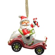 CosmosGifts Santa Driving Car Ornament