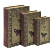 ABCHomeCollection 3 Piece Classic Book Shaped Box Set