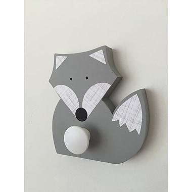 Maple Shade Kids Fox Wall Hook; Gray