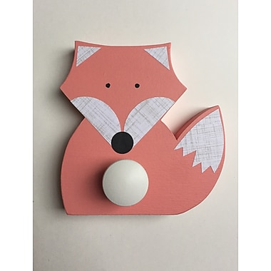Maple Shade Kids Fox Wall Hook; Coral Pink