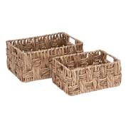 ABCHomeCollection 2 Piece Woven Wicker Basket Set