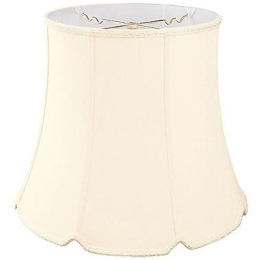 RoyalDesigns Timeless 12'' Silk/Shantung Bell Lamp Shade; Eggshell