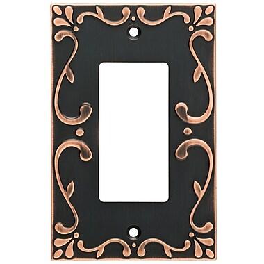 Franklin Brass Classic Lace Single Decorator Wall Plate; Bronze/Copper