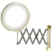 Windisch by Nameeks Wall Mounted Extendable Double Face Magnifying Mirror