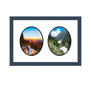 Frames By Mail 2 Opening Picture Frame; Blue