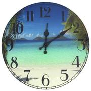 Oriental Furniture 13'' Caribbean Beach Wall Clock