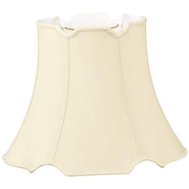 RoyalDesigns Timeless 12'' Silk/Shantung Bell Lamp Shade; Beige