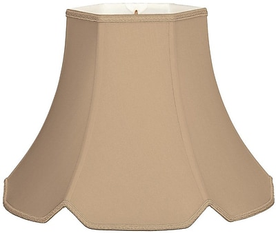 RoyalDesigns Timeless 12'' Silk/Shantung Bell Lamp Shade; Antique Gold