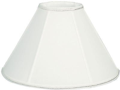 RoyalDesigns Timeless 12'' Silk/Shantung Empire Lamp Shade; White
