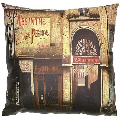 Oriental Furniture Parisian Cafe Throw Pillow