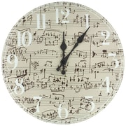Oriental Furniture 13'' Symphony Score Wall Clock