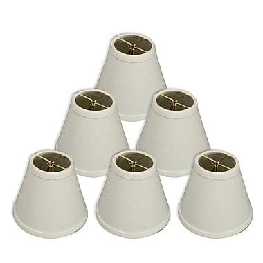 RoyalDesigns 6'' Silk/Shantung Empire Candelabra Shade (Set of 6); White