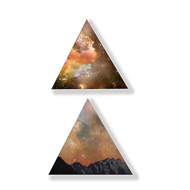 Two Palms Art Bazaar 'Celestial Passage' 2 Piece Graphic Art on Plaque Set; 15'' H x 15'' W x 1'' D