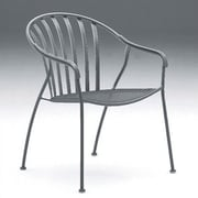 Woodard Valencia Stackable Barrel Dining Arm Chair; Textured Black