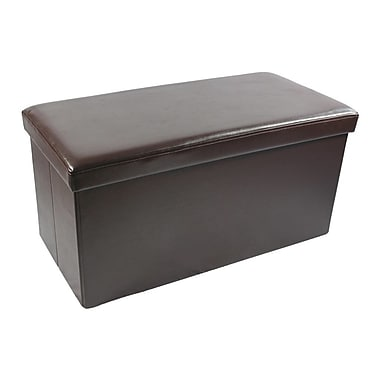 Achim Importing Co Collapsible Storage Ottoman; Brown