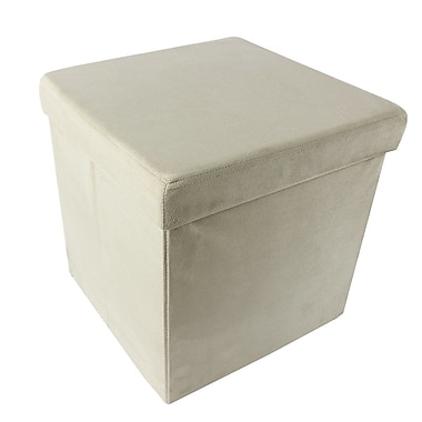 Achim Importing Co Collapsible Storage Ottoman; Camel