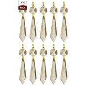 RoyalDesigns Chandelier Replacement Crystal Prism Icicle U-Drop (Set of 10); One Bead