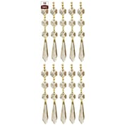 RoyalDesigns Chandelier Replacement Crystal Prism Icicle U-Drop (Set of 10); Three Bead