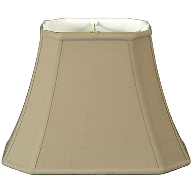 RoyalDesigns Timeless 10'' Linen Bell Lamp Shade; Beige