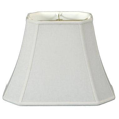 RoyalDesigns Timeless 10'' Linen Bell Lamp Shade; White