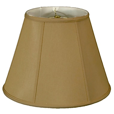 RoyalDesigns Timeless 10'' Silk Empire Lamp Shade; Antique Gold/Off White