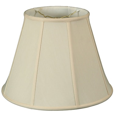 RoyalDesigns Timeless 18'' Silk Empire Lamp Shade; Eggshell/Off White