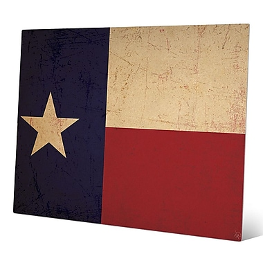 Click Wall Art 'Texas Flag Vintage' Graphic Art; 16'' H x 20'' W x 0.04'' D