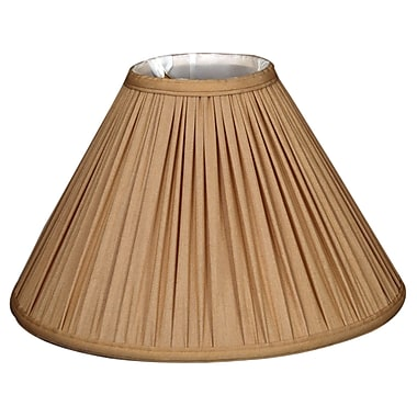 RoyalDesigns Timeless 18'' Silk Empire Lamp Shade; Antique Gold/Off White