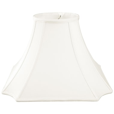 RoyalDesigns Timeless 18'' Silk Bell Lamp Shade; White/Off White