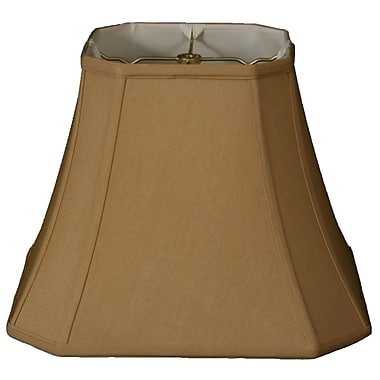 RoyalDesigns Timeless 12'' Silk Bell Lamp Shade; Antique Gold/Off White