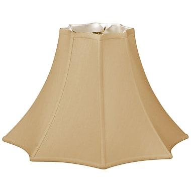 RoyalDesigns Timeless 12'' Silk Bell Lamp Shade; Antique Gold