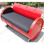 Drum Works Furniture Loft Loveseat w/ Cushions