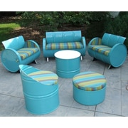 Astoria Lagoon Indoor/Outdoor Garden Patio 6 Piece Seating Group w/ Sunbrella Cushion
