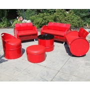 Drum Works Furniture Very Red 6 Piece Seating Group w/ Cushion