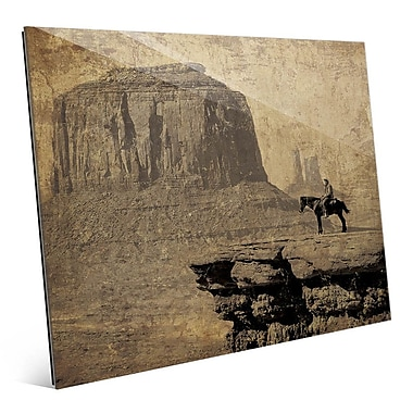 Click Wall Art 'Western Mountains' Graphic Art; 11'' H x 14'' W x 1'' D