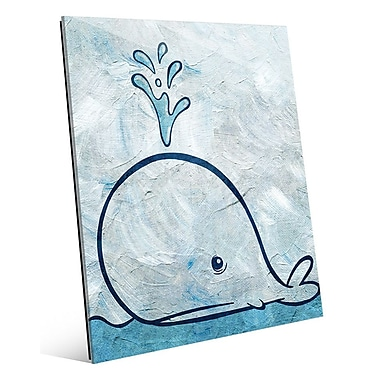 Click Wall Art 'Thar She Blows' Painting Print on Wrapped Canvas; 24'' H x 20'' W x 1.5'' D