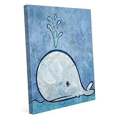 Click Wall Art 'Thar She Blows' Painting Print on Wrapped Canvas; 40'' H x 30'' W x 1.5'' D