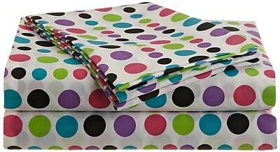 Malibu Multi-Dots 200 Thread Count Sheet Set; Queen