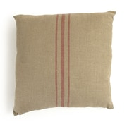 Zentique Red Stripe in the Linen Throw Pillow