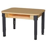 Wood Designs Laminate Adjustable Height Open Front Desk