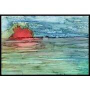 Caroline's Treasures Abstract Sunset on the Water Doormat; 1'6'' x 2'3''