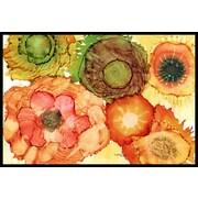Caroline's Treasures Abstract Flowers Blossoms Doormat; 2' x 3'