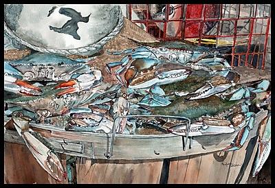 Caroline's Treasures Basket Full of Crabs Doormat; 1'6'' x 2'3''