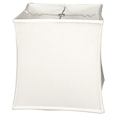 RoyalDesigns Timeless 13'' Silk Novelty Lamp Shade; White