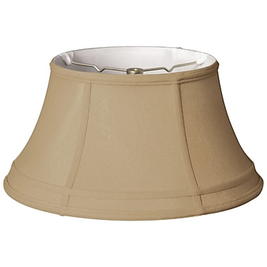 RoyalDesigns Timeless 15'' Silk Bell Lamp Shade; Gold/Off White