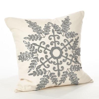 Saro Cristabel Throw Pillow; Silver