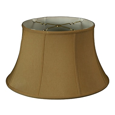RoyalDesigns Timeless 15'' Silk Bell Lamp Shade; Antique Gold/Off White